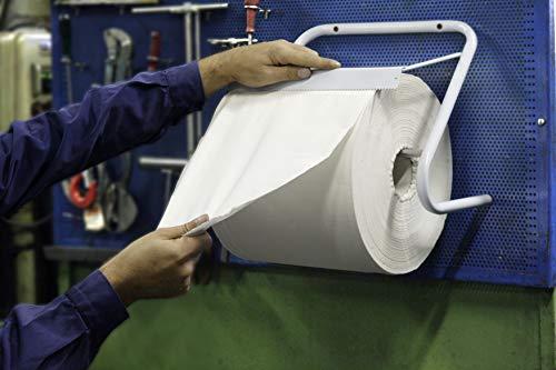 Starke Halter für Putzpapierrollen bis 30cm, Metall, Weiß, Passend für A-Paper