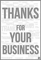 メタルサイン リサイクル可能 お取引ありがとうございます オイル 黒と白 使い捨て紙のフロアマット 商業用のダートフットプリントなし