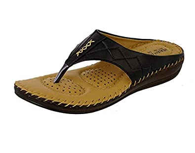 HEALTH FIT Ortho Slippers-Dr Sandals for Women Suitable for Knee Pain, Diabetic & Orthopedic Footwear for Women HF356