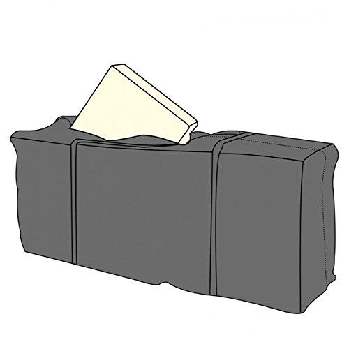 LINDER EXCLUSIV LEX - Telo protettivo deluxe per 4 cuscini da giardino, 125 x 32 x 50 cm, borsa con manici e chiusura lampo
