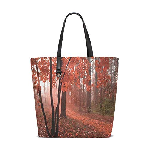 DoubleCW Fall Decor Multifunction Women's Handbag Shoulder Lunch Tote Bag with Large Capacity Best Gifts for Teen Girls