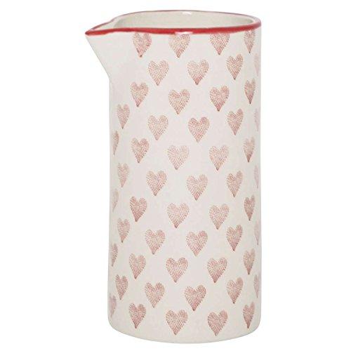 IB Laursen - Kanne, Krug, Kännchen, Milchkännchen, Gießer - mit Herzen - Keramik - 0,2 Liter