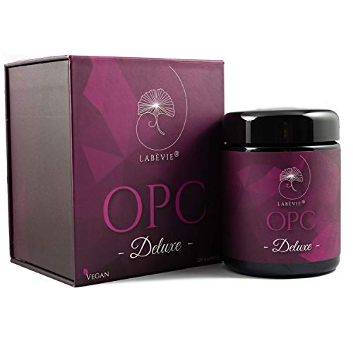 OPC Deluxe I 6in1 Kombination (OPC+Zink+Acerola Extrakt+Selen 200µg+R-Alpha Liponsäure+MSM) I Vegan I 120 Kapseln I Inklusive 60 Tage Gesundheits-Challenge und Gratis Sticker