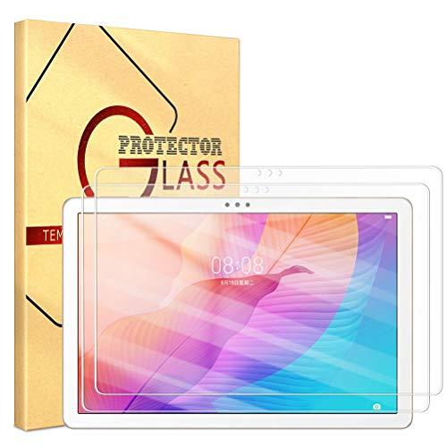 ZhuoFan Templado Protector para Huawei MatePad T10S 10.1 Tableta, Protector Cristal de Pantalla de Vidrio Premium Transparente Templado [9H Dureza] para Huawei MatePad T10S 10.1 Pulgada, 2 Pack
