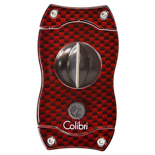 Colibri V-Cut Cigar Cutter - Red Carbon Fiber
