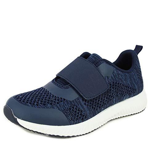 Sportschoenen met klittenbandsluiting van het merk Doctor Cutillas, van stof, zeer aanpasbaar, marineblauw, Piso wit – 13950