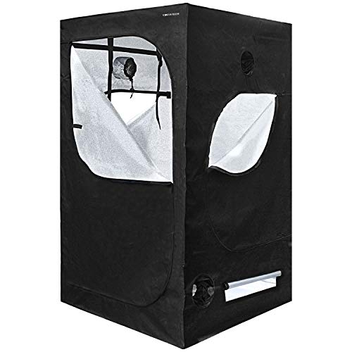 YINTATECH 48'x48'x80' Plant Grow Tent, Reflective Mylar 600D Oxford Fabric Growing Room, with...