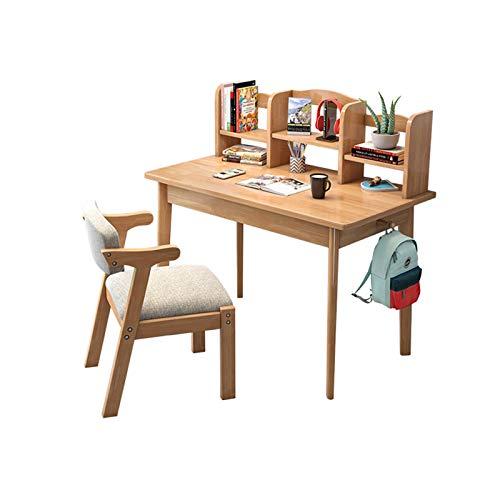 XSN Schülerschreibtisch, Kinderschreibtisch,Kleines Bücherregal Mit Desktop-Speicher,Beidseitig Massivholzhaken,stabil Und Fest,Sehr Gut Geeignet Zum Lernen, Lesen, Zeichnen