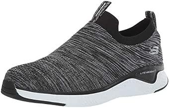 Skechers Men's Solar Fuse Loafer, Black/White, 9 2E US
