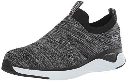 Skechers Men's Solar Fuse Loafer, Black/White, 10 2E US