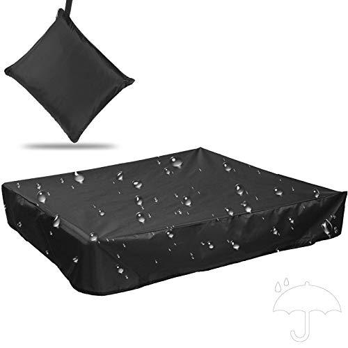 AUPERTO Cubierta para caja de arena resistente al polvo, 150 x 150 cm, portátil, cuadrada, con banda de goma, resistente al polvo, impermeable, para caja de arena infantil, para terraza, jardí