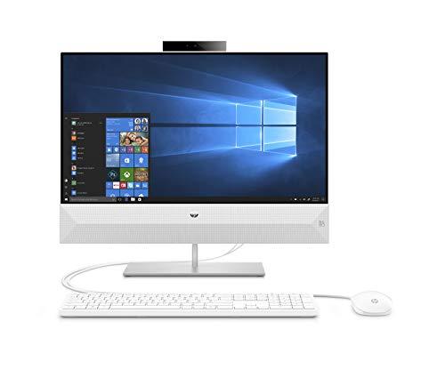 HP-PC Pavilion 24-xa0032nl All-in-One, Intel Core i5-9400T, RAM 8 GB, SSD 512 GB, Grafica Intel UHD 630, Windows 10 Home, Schermo 23.8' FHD Antiriflesso, USB-C, HDMI, Lettore Micro SD, Webcam, Bianco