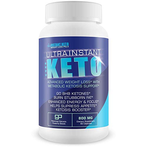 Ultra Instant Keto - Advanced Weight Loss with Metabolic Ketosis Support - Burn Fat - Lose Weight - Pure Sodium, Calcium, Magnesium Bhb to Jump Start Ketosis and Start Burning Fat Faster