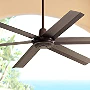 """60"""" Turbina Max Modern Industrial Outdoor Ceiling Fan with Remote Brown Oil Rubbed Bronze Damp Rated for Patio Porch - Casa Vieja"""