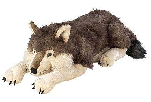 Wild Republic 82332 - Floppies, Wolf, 76 cm - Kuscheltier aus Plüsch