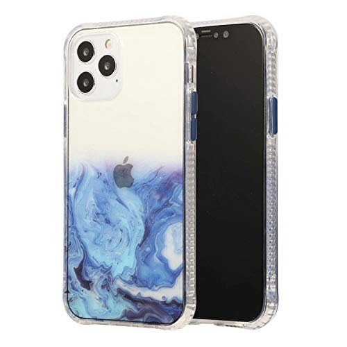TOPOFU for iPhone 12 Max/Pro Case, Crystal Clear [Anti-Yellow] Shockproof Soft Silicone TPU Bumper Protective Case Cover Clear Designed for iPhone 12 Max/Pro (Blue)