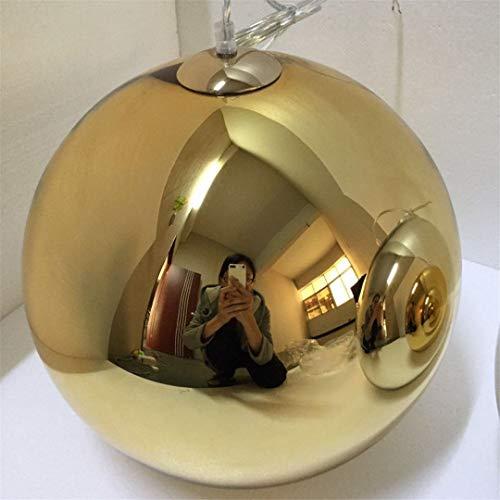 F&PERFTLMP - Lámpara de techo colgante con bola de cristal, lámparas colgantes de decoración de restaurante, D20/25/30 cm, dorado, 31 – 40 W, 40 cm