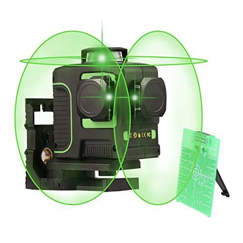 Sfeomi Livello Laser a Croce Strumento di Livello Kit Livellamento Autolivellante a Livello Incrociato Linea Verticale e Orizzontale a 360 Gradi con Base a Perno Magnetico