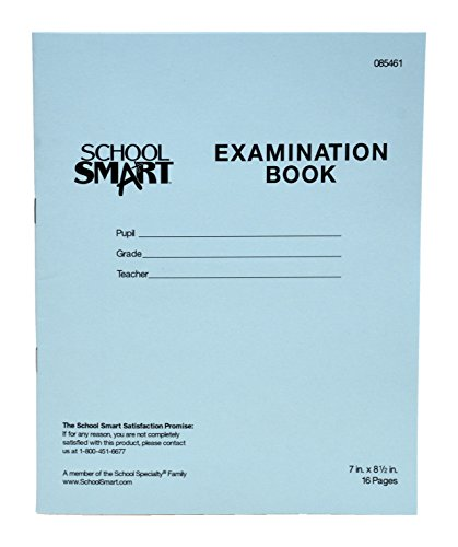 1 Pack Grid Format 8 1//2 x 11-16 Numbered Pages LAB-016-7GSS Exam Book - Saddle Stitched BookFactory Exam Blue Book//Blue Exam Book//Blue Test Book