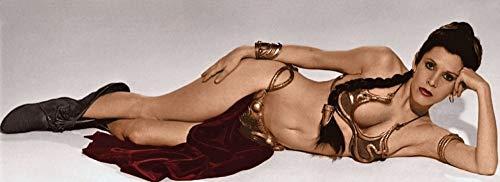 Posterazzi DAP14721 Carrie Fisher - Impresión fotográfica para disfraz de esclavo de la princesa Leia, 25,4 x 20,3 cm, multicolor
