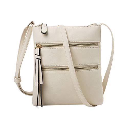 Handy Schultertasche für Damen/Skxinn Mädchen Sportliche Handtasche Umhängetasche Schultertasche aus PU-Leder für Frauen, Wandern, Reisen,Party,Ausverkauf(Beige)
