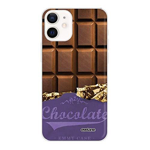 Cover per iPhone 12 Mini, 5.4', colore: cioccolato