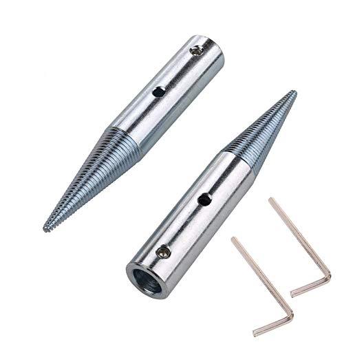 """Adaptador de husillo de 1/2 """", mano derecha e izquierda para par de amoladoras de banco Rueda de pulido de tela con orificio de eje de 3 / 16-10 / 16"""""""