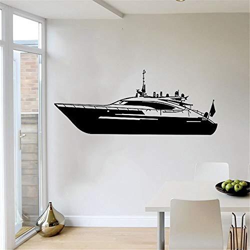 wZUN Vinyl Tapete kreative Dampfer Muster Wandaufkleber Schlafzimmer Wohnzimmer Wanddekoration 42X135cm