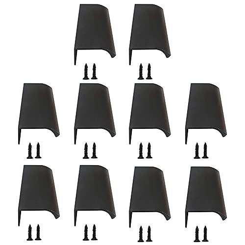 CJBIN 10 tiradores de puerta de aleación de aluminio para muebles, pomos curvados para armario con 20 tornillos, tiradores de puerta para armario, cajón, dormitorio, tiradores de muebles (120 mm)