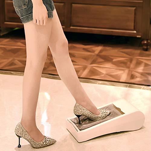 SHIJING Automatische Schuhüberziehmaschine Automatische Filmüberziehvorrichtung für Sohlen Geeignet für alle Arten von Schuhen Wirksam Wasserdicht