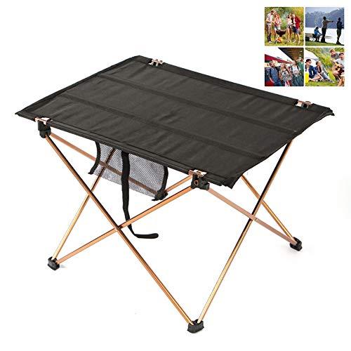 DASGF inklapbare campingtafel, lichtgewicht, extra sterk, draagbaar, outdoor, tuin, party, vakantiefeest, picknick, barbecue, gemonteerd aluminium tafel, Oxford tafelkleed medium