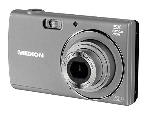 Medion LIFE E44007 Digitalkamera, 20 MP, 5x optischer Zoom, 8x digitaler Zoom, LC-Display, USB-Ladefunktion, silber