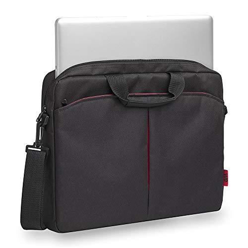We Classic Laptoptasche mit Tragegurt für Notebook (43,9 cm (17,3 Zoll) schwarz/rot