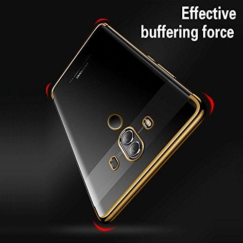 Huawei Mate 10 Pro Hülle, AOLANDER Huawei Mate 10 Pro Handyhülle TPU Case Cover, Leicht Flexible Rugged Armor Hybrid Defender Shockproof Schutzhülle für Huawei Mate 10 Pro (Gold) - 5