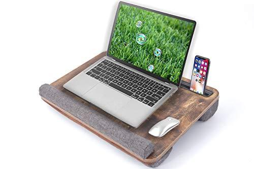 Laptop Laptop Desk - Suitable for 15-17 inch Laptop Desk,Home Office Lap Desk for laptops -Retro Brown