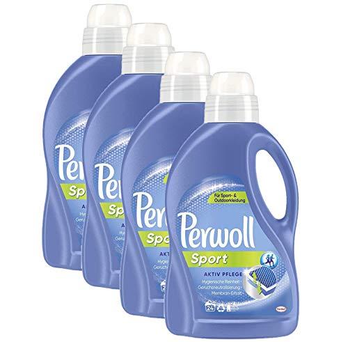 Perwoll Sport Aktiv Pflege Spezialwaschmittel, 96 (4 x 24) Waschladungen, für Sport- und Outdoorkleidung