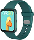 Smart Watch, Fitness Tracker Relojes para Hombres, Monitor de Ritmo cardíaco Reloj Digital a Prueba de Agua con calorías de Pasos Sleep Tracker, Smartwatch para iPhone Android (Color : Green)