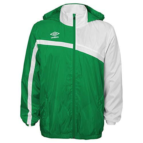 UMBRO Unisex-Kinder Woven Waterproof Jacket Regenjacke, grün/weiß, Medium