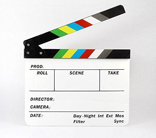Nalmatoionme coloré Acrylique film Films d'action Scène Ardoise effaçable à sec Clap Clap