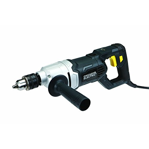 """Chicago Electric Power Tools 1/2"""" Variable Speed Reversible Heavy Duty D-Handle Drill"""
