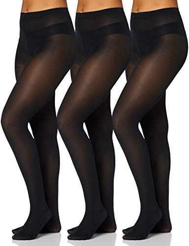 Iris & Lilly by Wolford Medias Mujer, Pack de 3, Azul (Almirante), XS, Label: XS