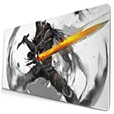 Extra Large Mouse Pad -Abyss Watcher Dark Souls Desk Mousepad - 15.8x29.5in (3mm Thick)- XL Protective Keyboard Desk Mouse Mat for Computer/Laptop