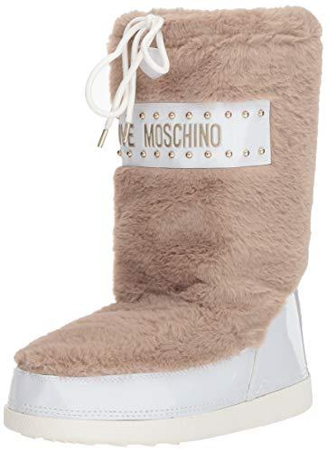 Love Moschino Damen St.Ttod.Yuky20 Pelliccia Schneestiefel, Grau (Ardesia 209), 35 EU