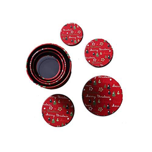 SUZONC Nuevas Latas De Hojalata De Navidad Caja De Dulces Caja De Almacenamiento De Regalo Latas De Galletas Latas De Hierro 13.5 * 10.5Cm