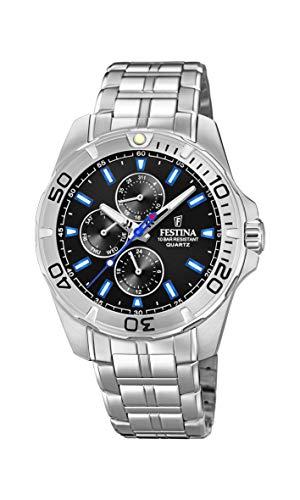 Festina Herren Multi Zifferblatt Quarz Uhr mit Edelstahl Armband F20445/6
