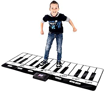Abco Tech Giant Piano Mat - Jumbo Floor Keyboard with Play Record Playback and Demo Modes - New Look - 8 Different Musical Instruments Sound Options - 70in Play Mat - 24 Keys  Standard