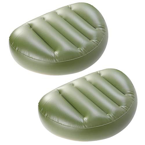 VORCOOL 2 stücke Angeln sitzkissen pad PVC Boot floß sitzkissen für Camping Angeln (grün)
