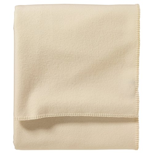 Pendleton, Eco-Wise Washable Wool Blanket, White, Queen
