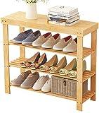 LIUYULONG Caja de Zapatos Zapato Moderno Simple Economía Inicio Plataforma compartida de Tres Pisos Zapatero Foyer Porche Zapatero 90x28x70cm Escaparate