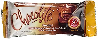 Healthsmart Chocolite Bar Chocolate Crispy Caramel -- 16- 24g(.84oz) Bars
